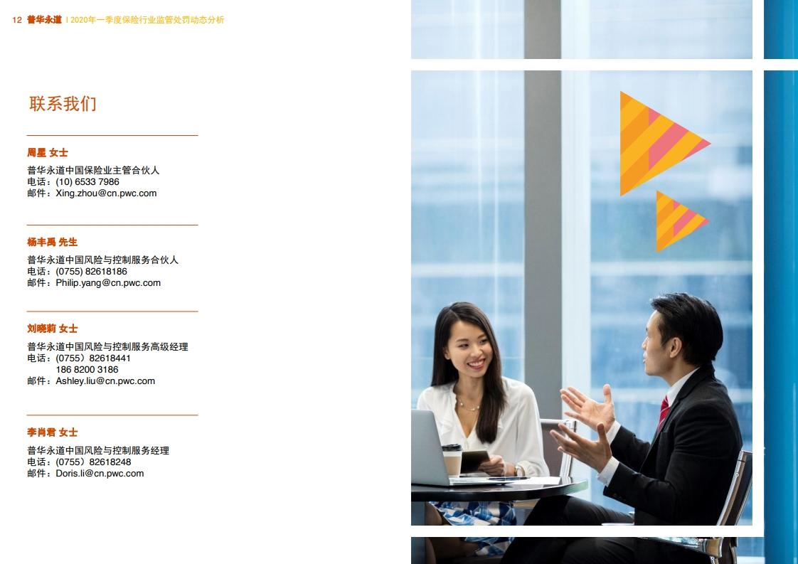 普华永道:2020年一季度保险行业监管处罚动态分析插图(23)